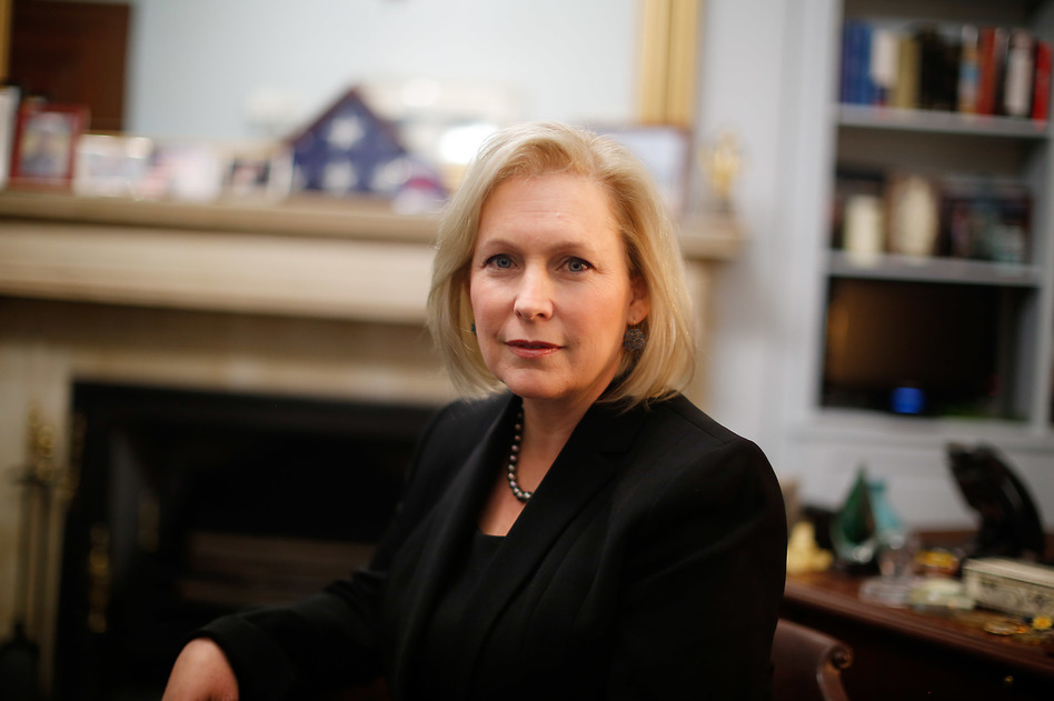 Sen. Gillibrand, D-N.Y., has increased her stature in the Democratic Party in recent years, though deflects the question of whether she will run for president in 2020. (John W. Poole/NPR)