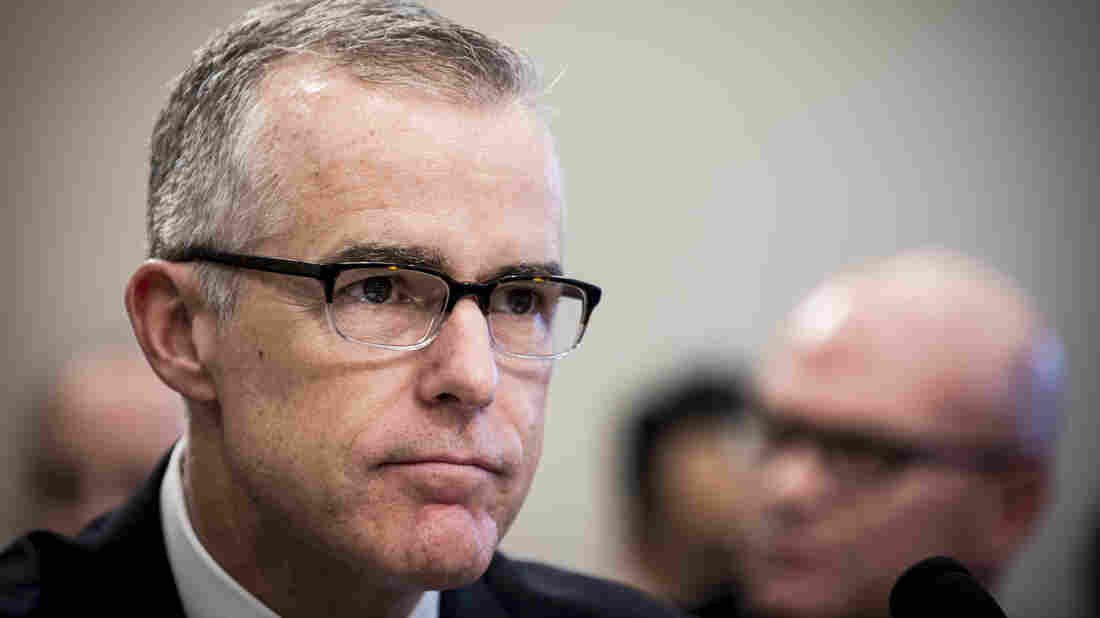 Federal Bureau of Investigation deputy director McCabe backs up Comey's 'loyalty oath' claim