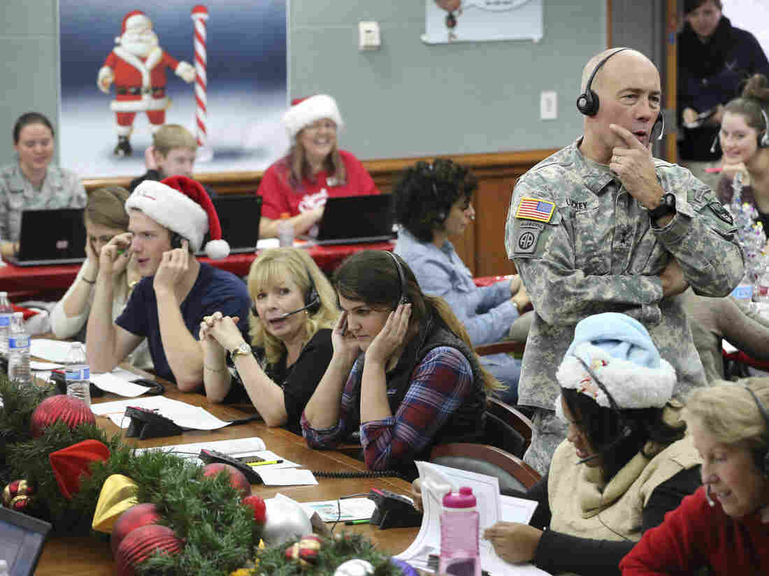 Tracking Santa Tradition Is Serious Fun For NORAD : The Two-Way : NPR