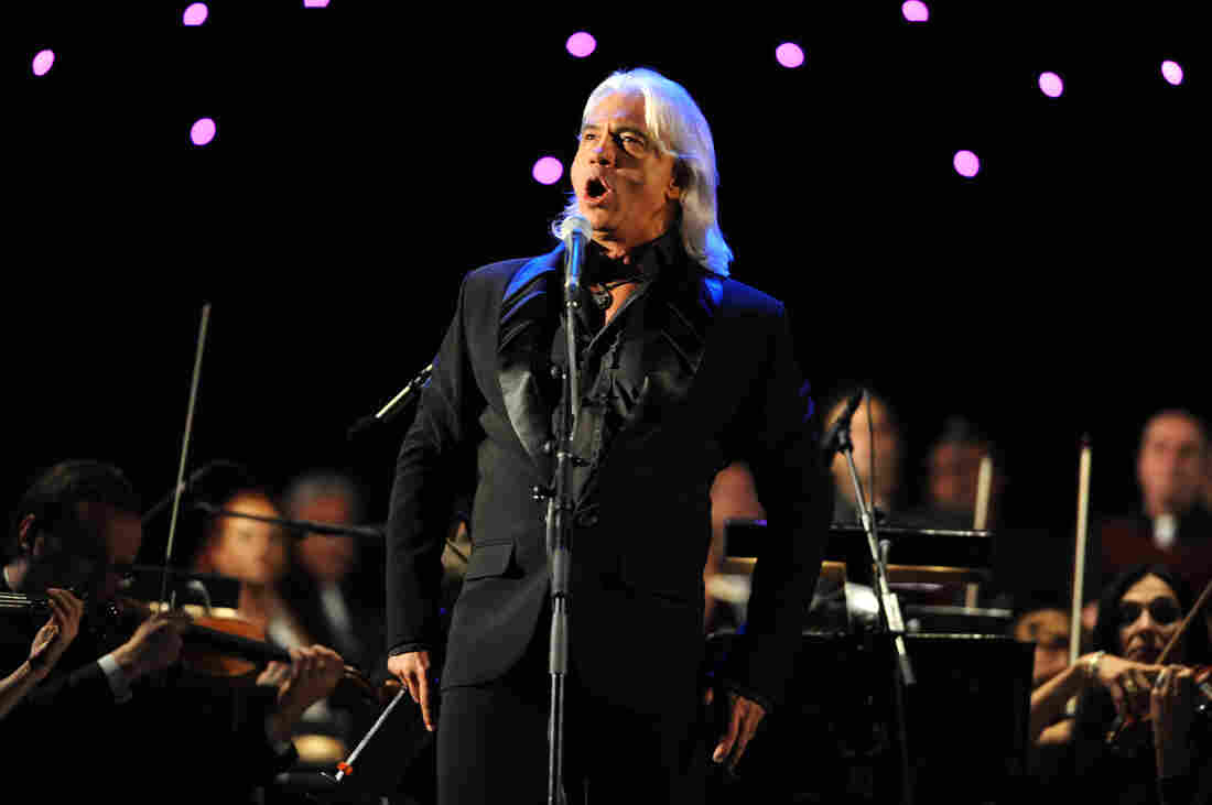 Russian baritone Dmitri Hvorostovsky performs during the Ohrid Summer Festival in Ohrid, Macedonia in 2013.