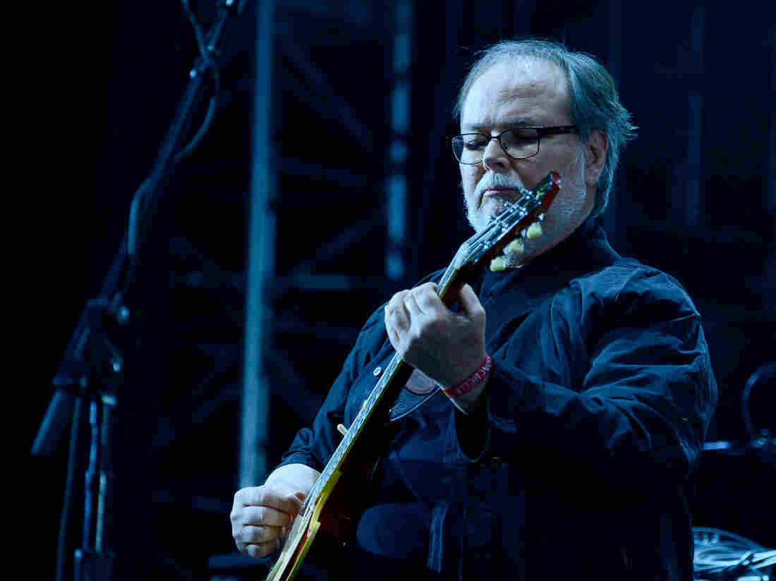 Guitarist Walter Becker of Steely Dan performs during the Coachella Valley Music & Arts Festival on April 10, 2015 in Indio, Calif.