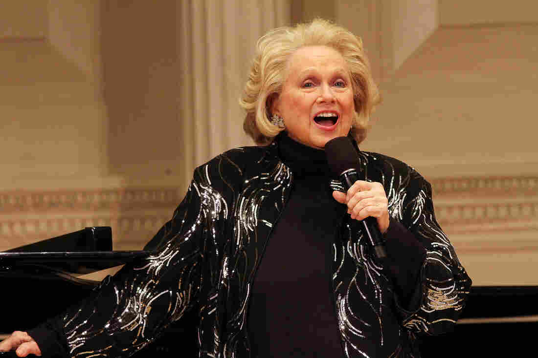 "Barbara Cook attends ""Remembering Lenny: A Gala Celebration Of Leonard Bernstein"" at Carnegie Hall on April 28, 2014 in New York City."