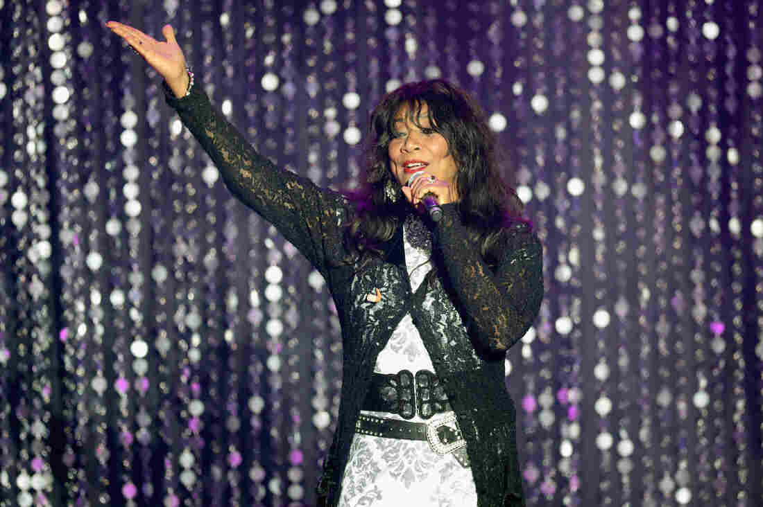 Joni Sledge of Sister Sledge appears on stage at the amfAR's Cinema Against AIDS Gala on May 19, 2016 in Cap d'Antibes, France.