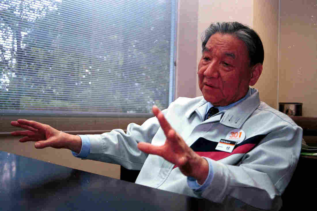 Roland founder Ikutaro Kakehashi speaks during an interview in 2000 in Hosoe, Shizuoka, Japan.