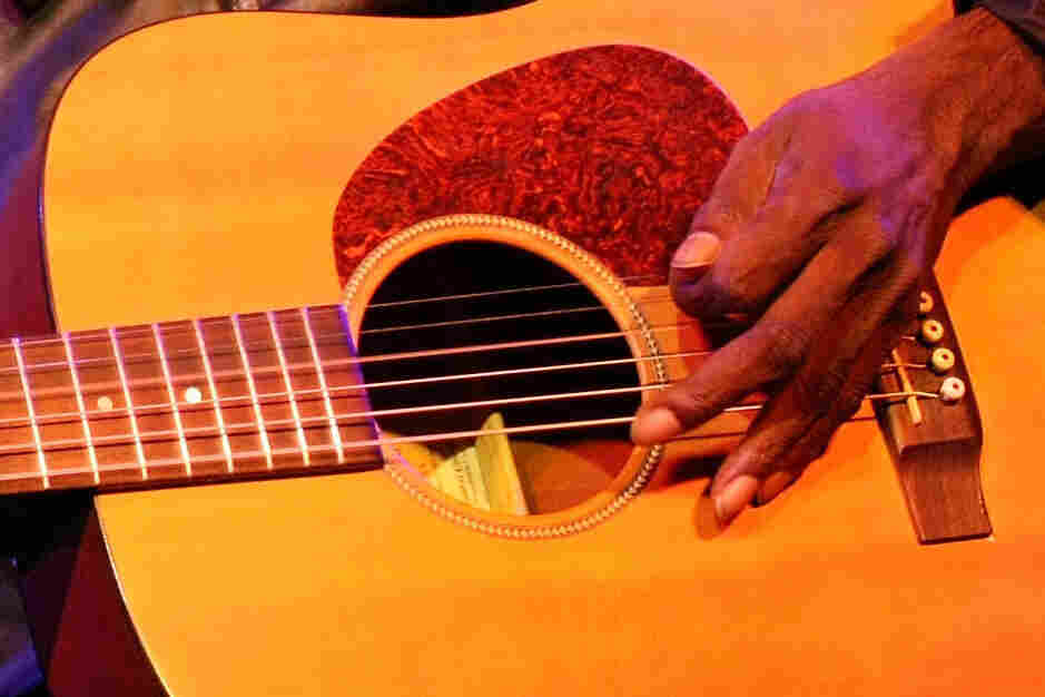 Dr. G. Yunupingu performs at the Australian Independent Records in Melbourne, Australia in 2008.