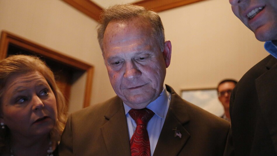 Roy Moore, seen here watching election returns in his Senate race, had called on Alabama officials to not certify the results of the special election that he lost to Democrat Doug Jones. An Alabama judge rejected the request Thursday, and Jones was certified the winner. (Brynn Anderson/AP)
