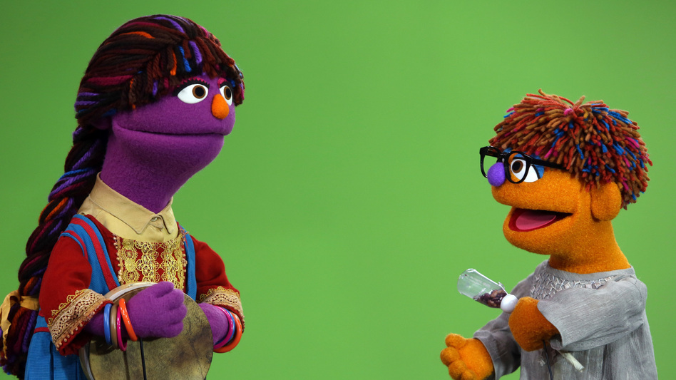 'Sesame Street' has many versions around the world. Above: its new Afghan characters, 6-year-old Zari (left) and her brother, Zeerak.