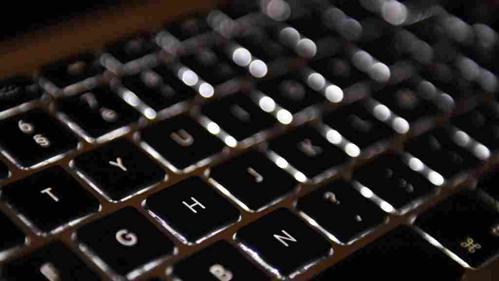 A computer keyboard.