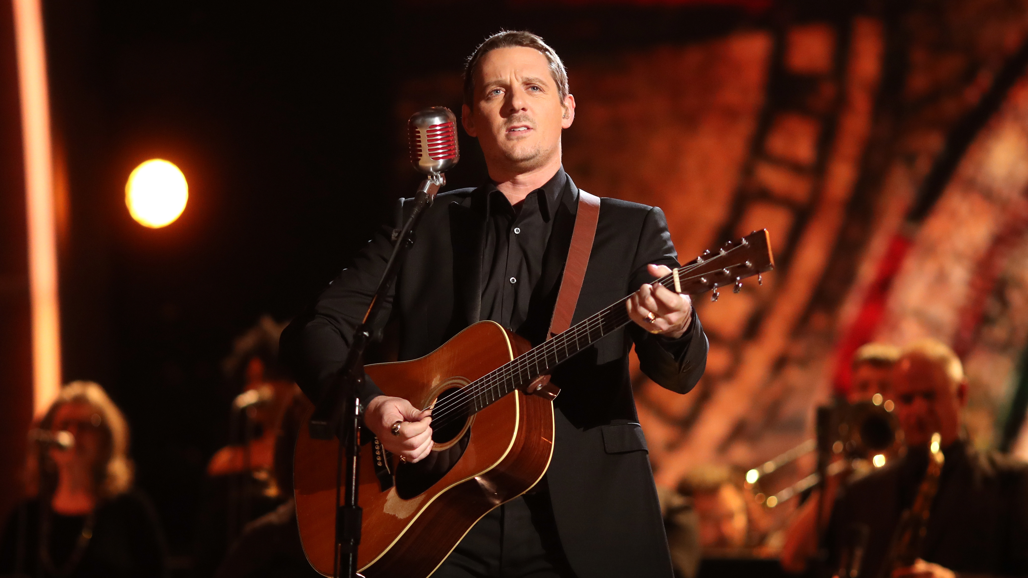 Sturgill Simpson, seen performing at the 2017 Grammys, is one of the featured artists in Oxford American's Southern music issue about Kentucky.