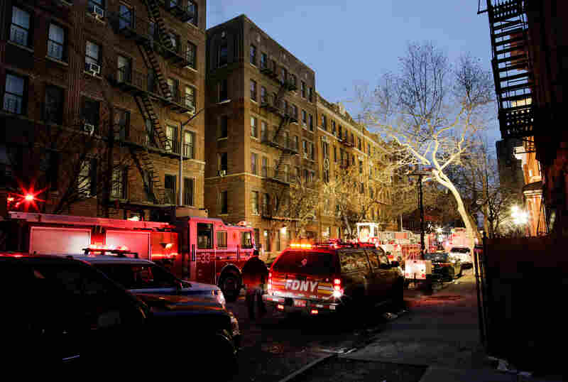 The fire broke out in the first floor of the apartment building just before 7 p.m. and quickly spread throughout the building.
