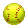 "A softball is ""differentiated from a baseball by size (it is larger, though hard to tell in emoji form) and color (yellow, not white),"" according to Emojipedia."