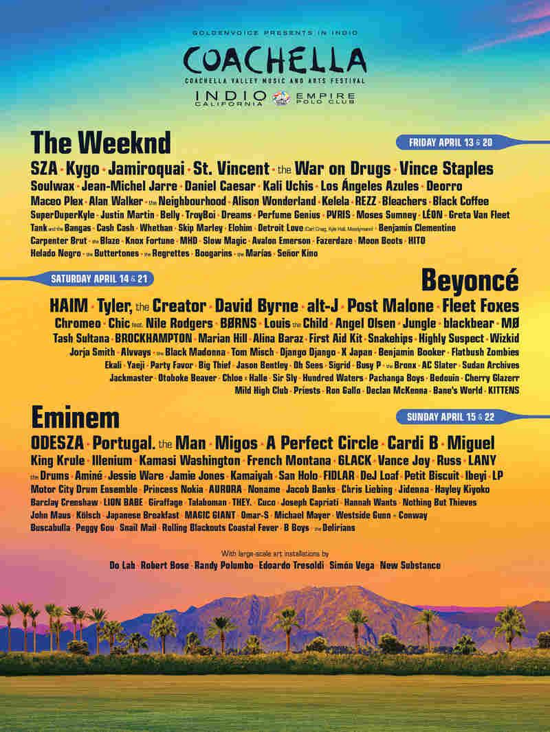 Coachella's 2018 lineup.