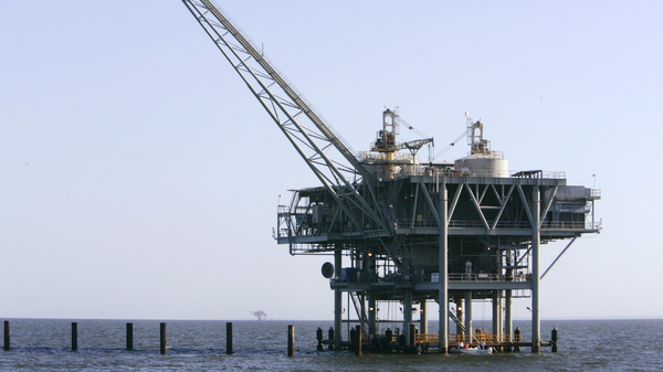A natural gas platform off the coast of Fort Morgan, Ala. in 2007.