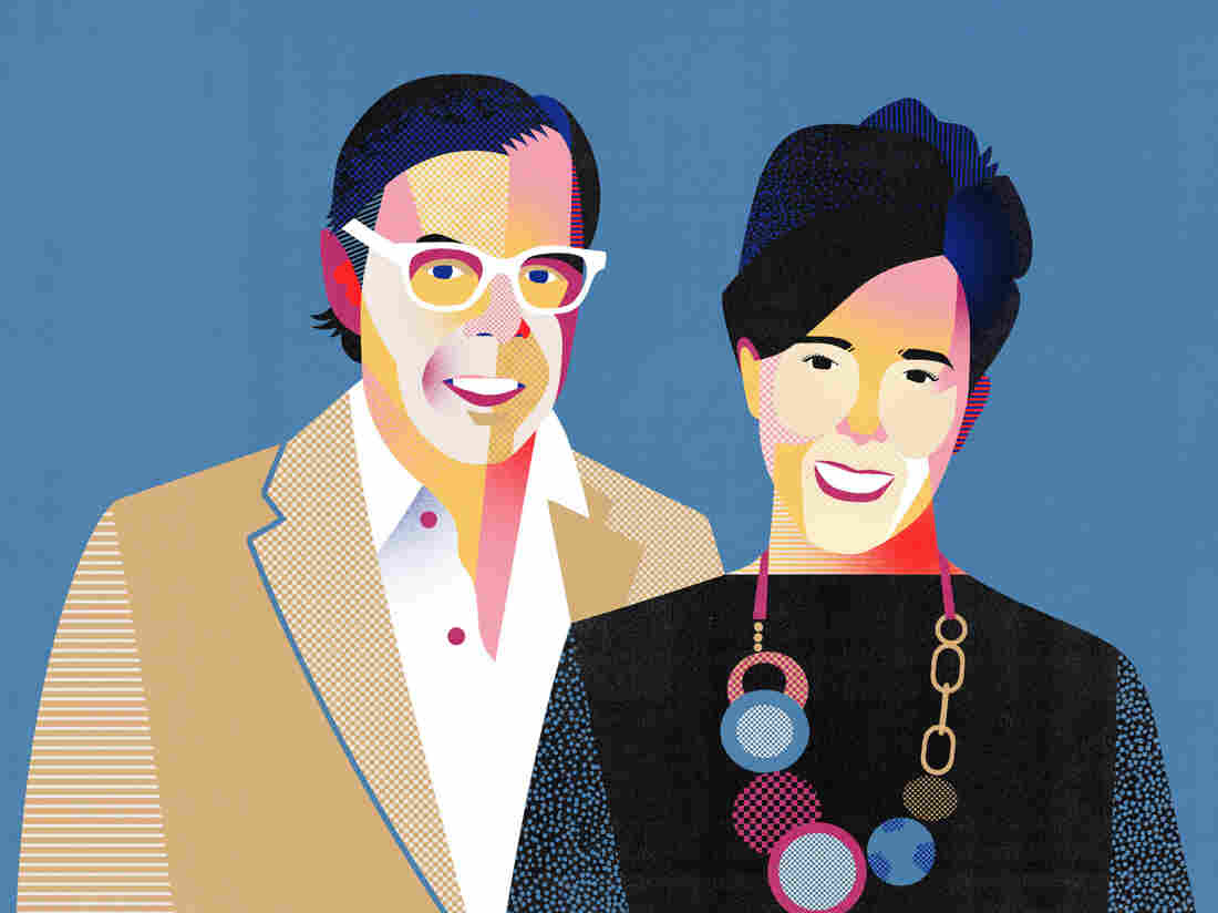 Kate & Andy Spade, founders of Kate Spade.