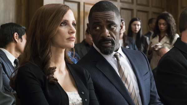 Jessica Chastain plays Molly Bloom and Idris Elba plays her attorney in Molly