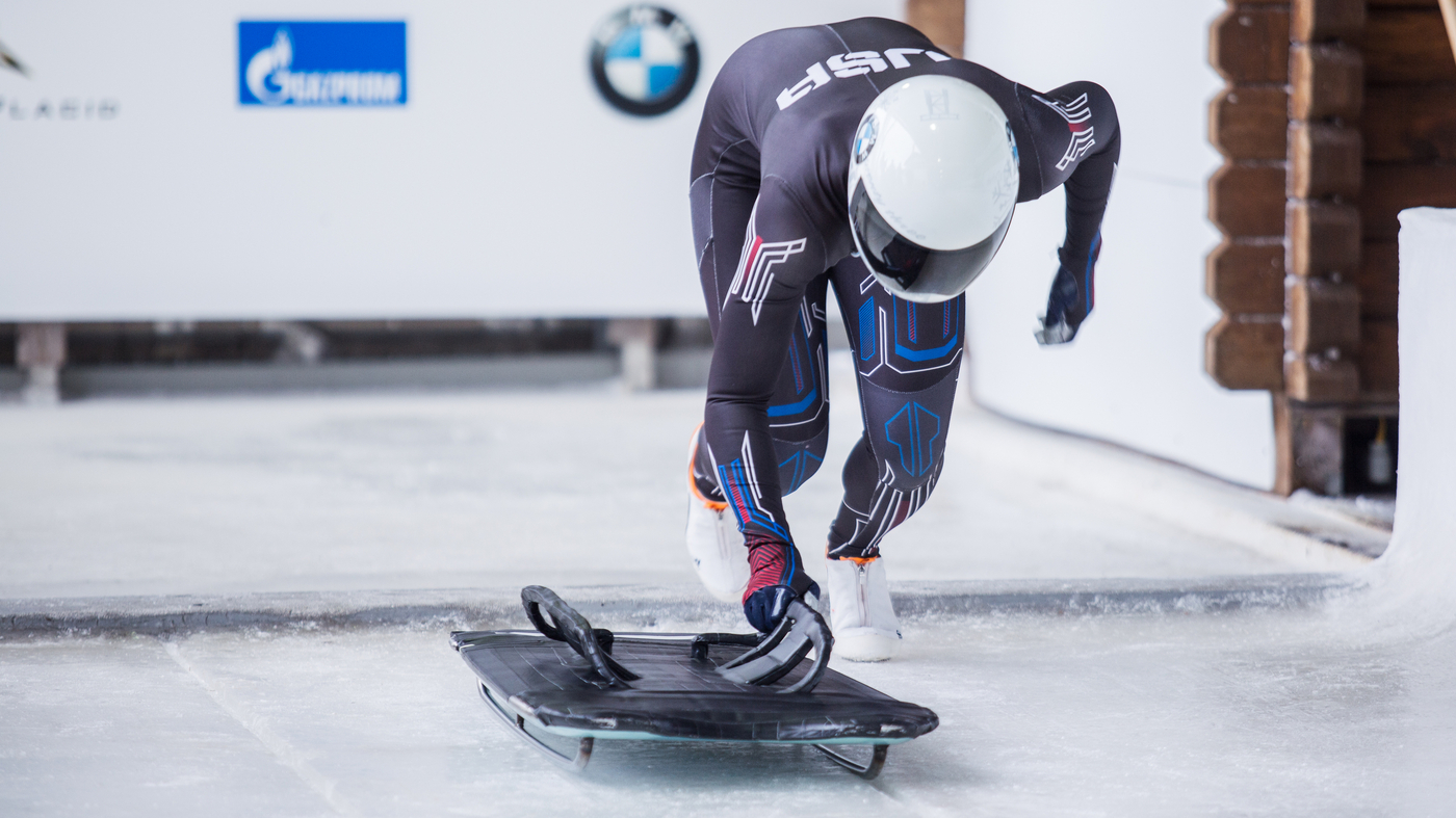 Olympic Skeleton Racers Go Face-Down, Head-First, 90 Miles
