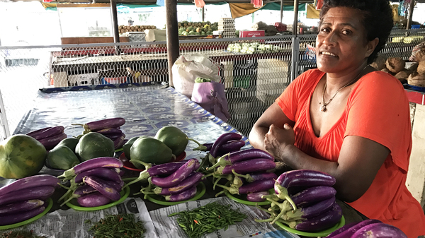 Farmer Adi Nacoba began diversifying her crops and spreading out plantings after a cyclone destroyed her farm in 2016.
