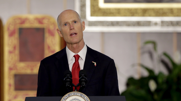 The Trump administration will cancel plans to allow oil drilling off the coasts of Florida at the request of Gov. Rick Scott, seen in Doral, Fla., last year.