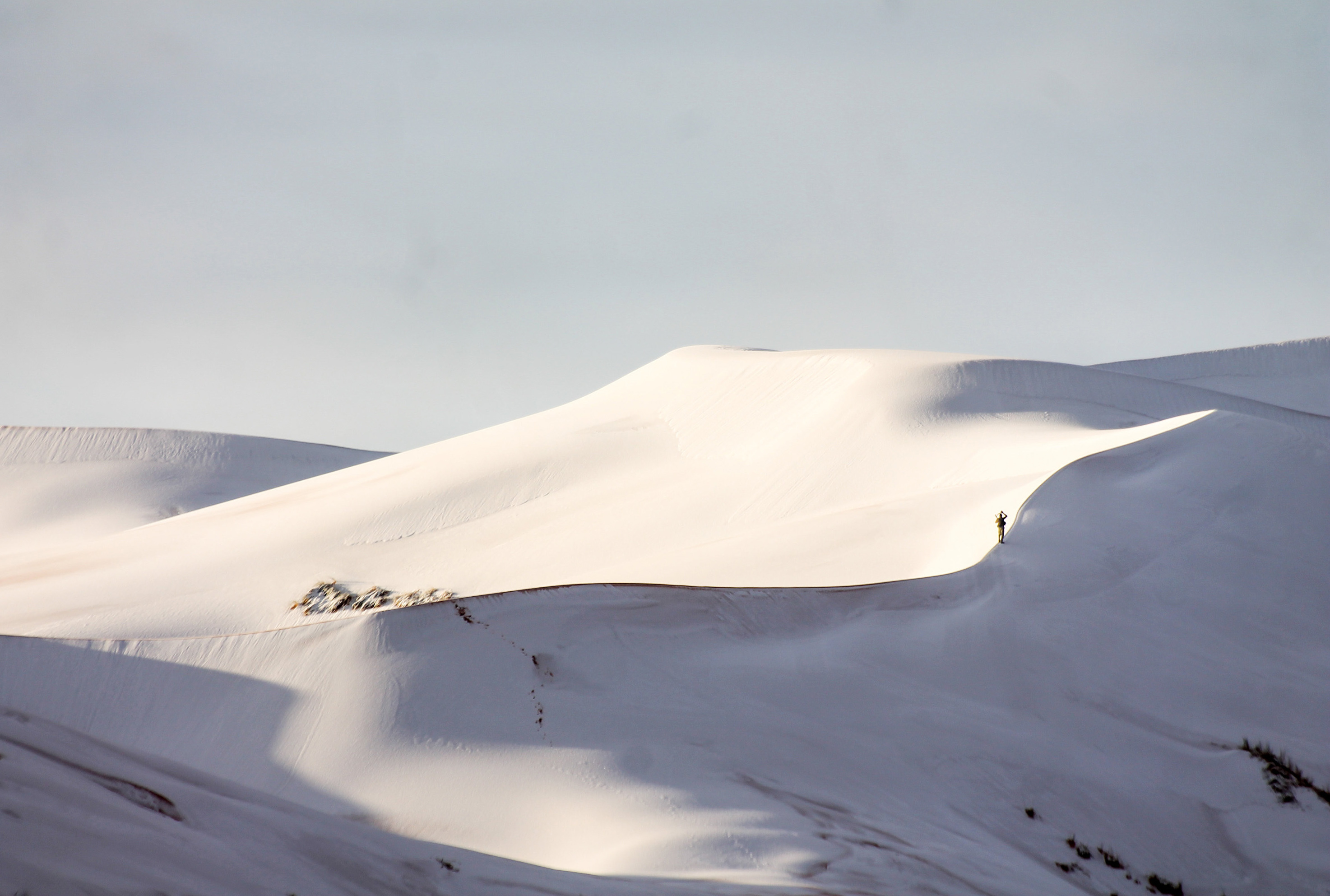 Photos The Sahara Desert Painted White With Snow The Two Way Npr