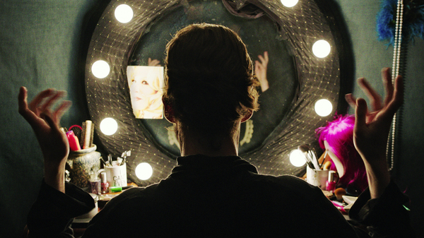 """""""(Freak) Showtime!"""": Billy Bloom (Alex Lawther) gets ready for his close-up in Freak Show."""