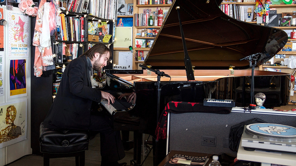 Daniil Trifonov performs a Tiny Desk concert on Nov. 13, 2017 at NPR Headquarters in Washington, D.C. (Jenna Sterner/NPR)