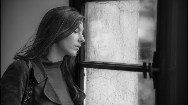 Ariane (Louise Chevillotte) gazes winsomely out a window like the Parisian university student she is, in Lover for a Day.