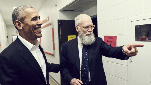 David Letterman interviews former President Barack Obama on My Next Guest Needs No Introduction with David Letterman.