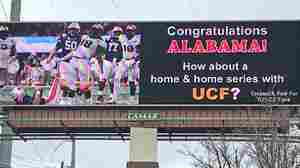 With One Billboard Inside Tuscaloosa, Ala., UCF Fans Drum Up A Little Drama
