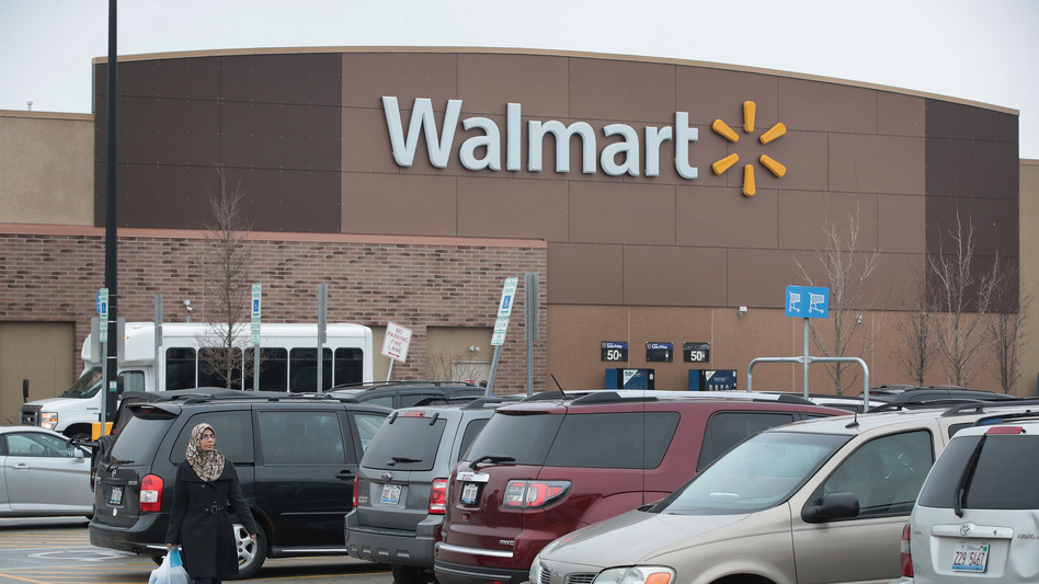 Customers shop at a Walmart store in January 2017 in Skokie, Ill. (Scott Olson/Getty Images)