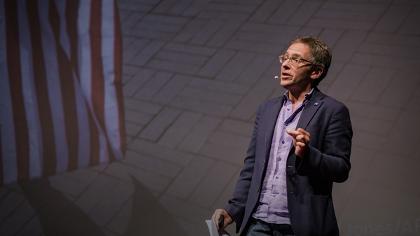 Ian Bremmer on the TED stage.