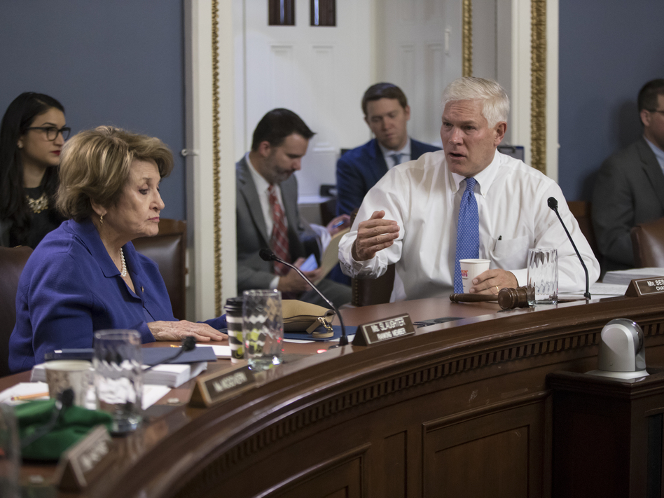 House Rules Committee Chairman Pete Sessions, R-Texas, and Rep. Louise Slaughter, D-N.Y., the top Democrat on the committee, will hold hearings on earmarks this week. (J. Scott Applewhite/AP)