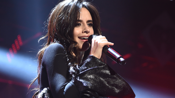 Camila Cabello on stage in December during Z100