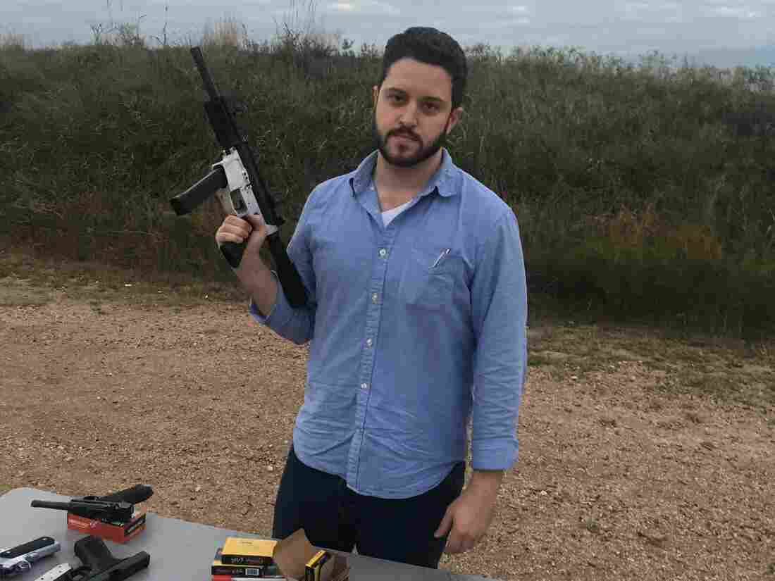Cody Wilson with a gun.