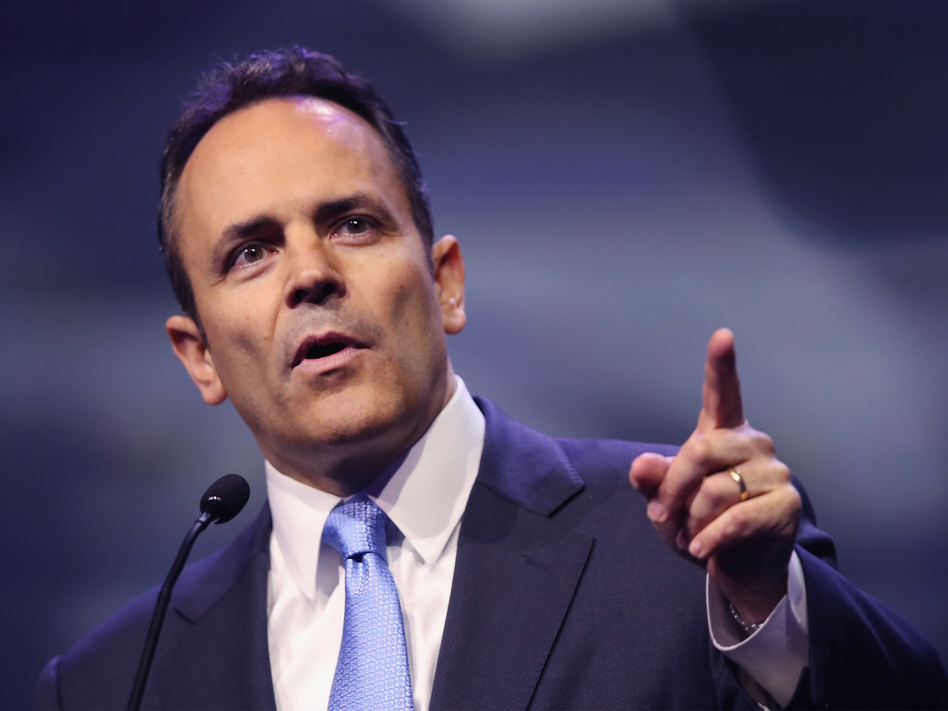 """Kentucky Gov. Matt Bevin, R-Ky., has said he thinks that Medicaid recipients should have """"skin in the game."""" (Scott Olson/Getty Images)"""
