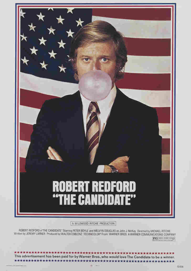 A poster for Michael Ritchie's 1972 satirical comedy-drama, 'The Candidate', starring Robert Redford.