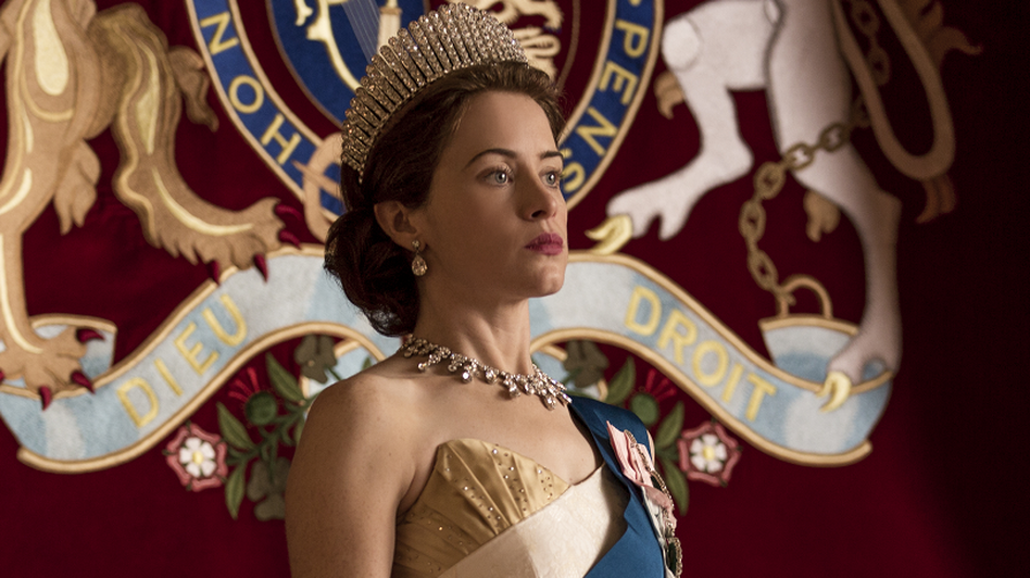 """Claire Foy plays Queen Elizabeth II in the Netflix series <em>The Crown.</em> Series creator Peter Morgan says he believes the queen is """"naturally a shy, retiring person."""""""