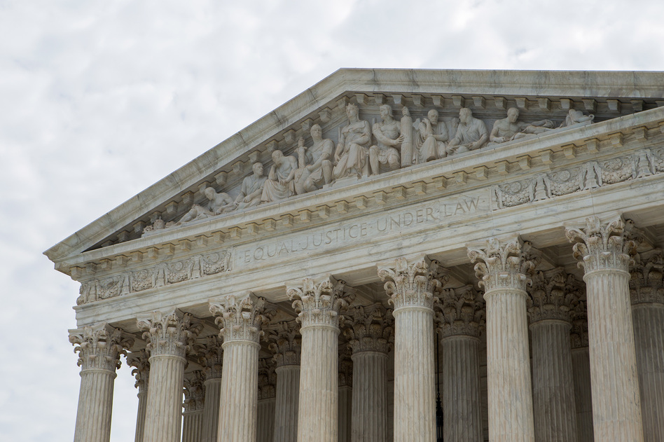 The U.S. Supreme Court hears arguments in a case where a defense lawyer refused to follow the instructions of his client, who contended he was innocent. (Liam James Doyle/NPR)