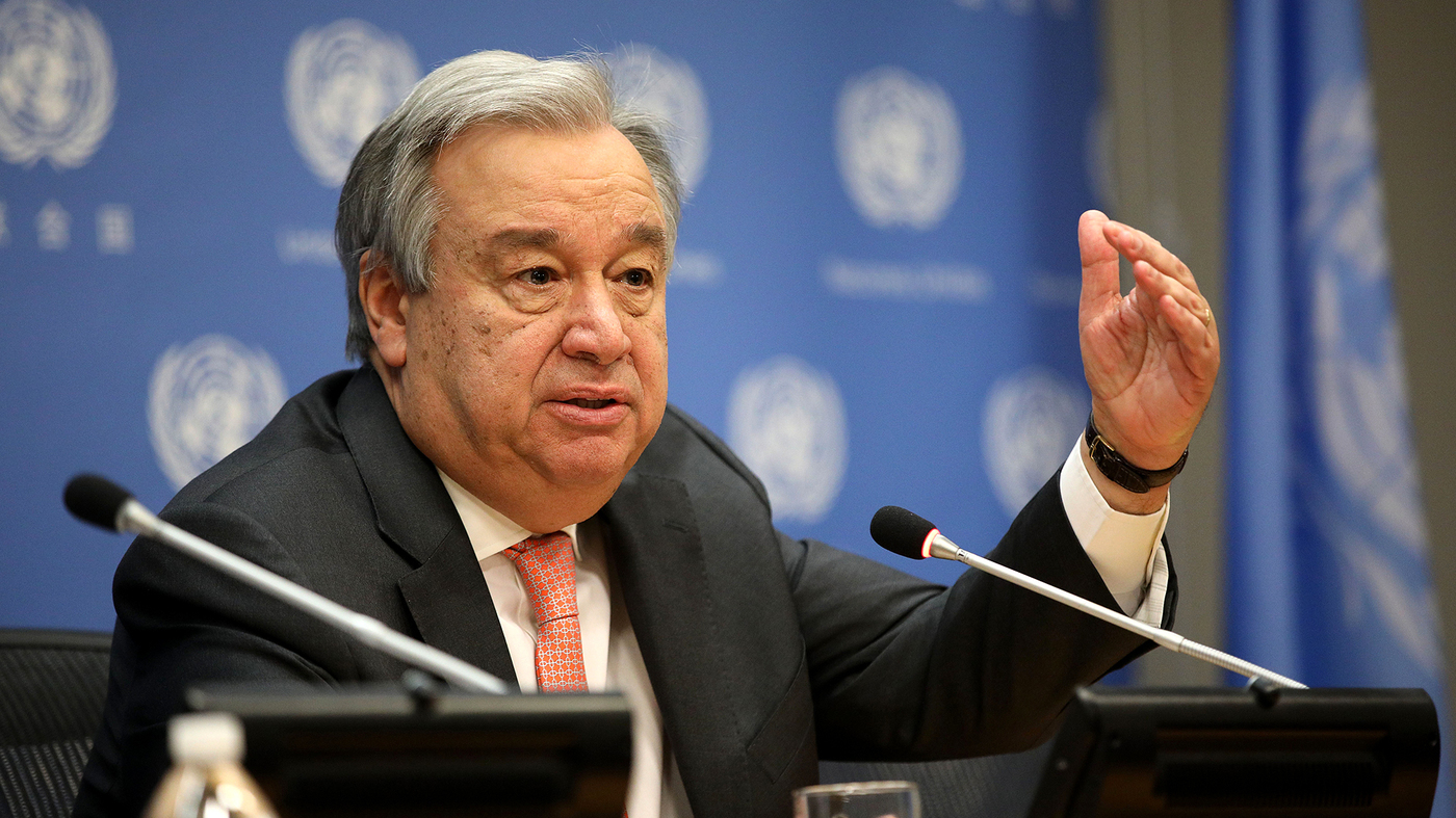 U.N. Head Antonio Guterres