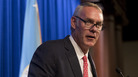 Interior Secretary Ryan Zinke speaks on the Trump administration's energy policy at the Heritage Foundation in Washington in September 2017. Nine of 12 members of the National Park Service advisory board resigned Monday citing Zinke's unwillingness to meet with the panel.