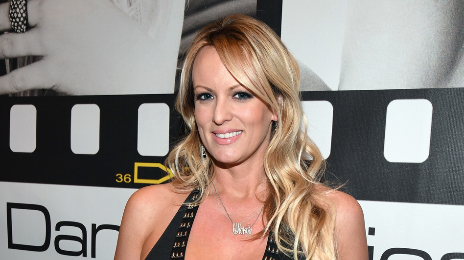 Stormy Daniels appears at the Wicked Pictures booth at the 2017 AVN Adult Entertainment Expo at the Hard Rock Hotel & Casino on January 18, 2017, in Las Vegas, Nev. (Ethan Miller/Getty Images)