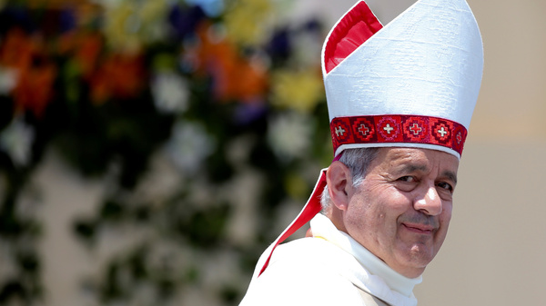 """Bishop Juan Barros was defended by Pope Francis on Thursday, as the pope said accusations that the bishop covered up sexual abuse were """"calumny."""" He"""