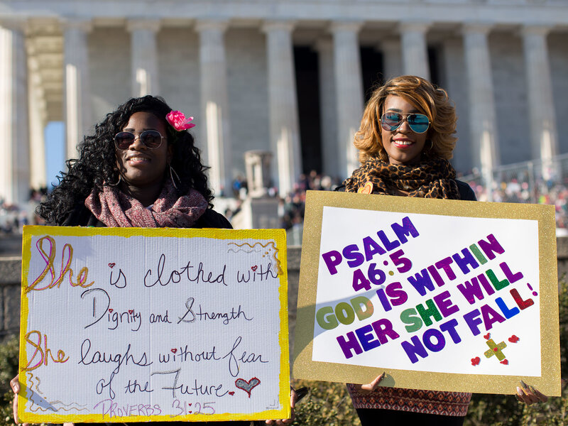 cce3fed69ff Women s March 2018  Protesters Descend On D.C. A Year After Trump ...