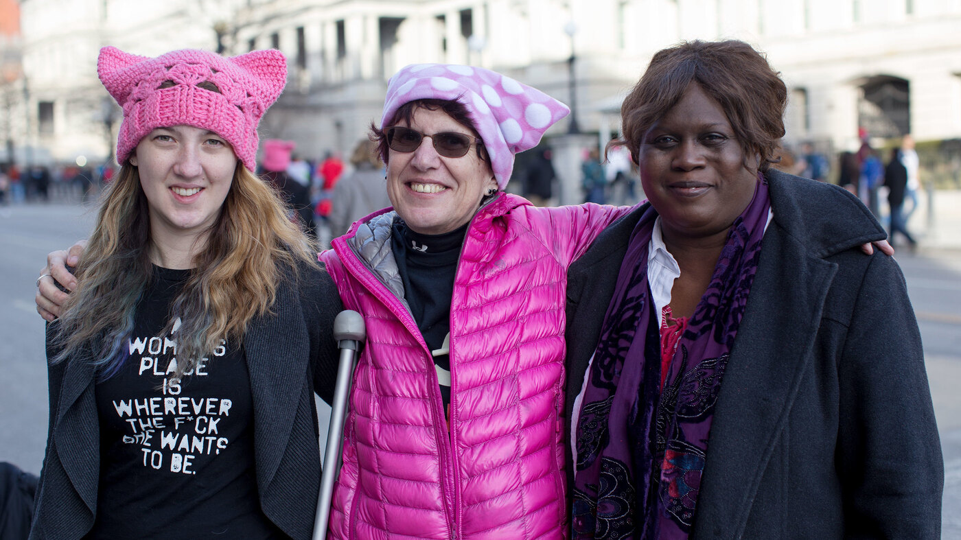 8ad03fada11 Women s March 2018  Protesters Descend On D.C. A Year After Trump Takes  Office   NPR