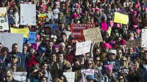 Still 'Pretty Damn Mad' Protesters Unite In Second Annual Women's March