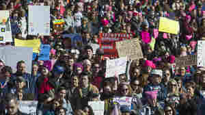 Still 'Pretty Damn Mad' Protesters Unite In Second Annual Women's March