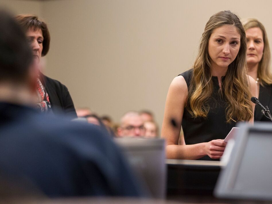 Kyle Stephens was the first person to testify last week during Larry Nassar's sentencing hearing in Michigan. The former USA Gymnastics team doctor has admitted to having sexual contact with minors. (Geoff Robins/AFP/Getty Images)