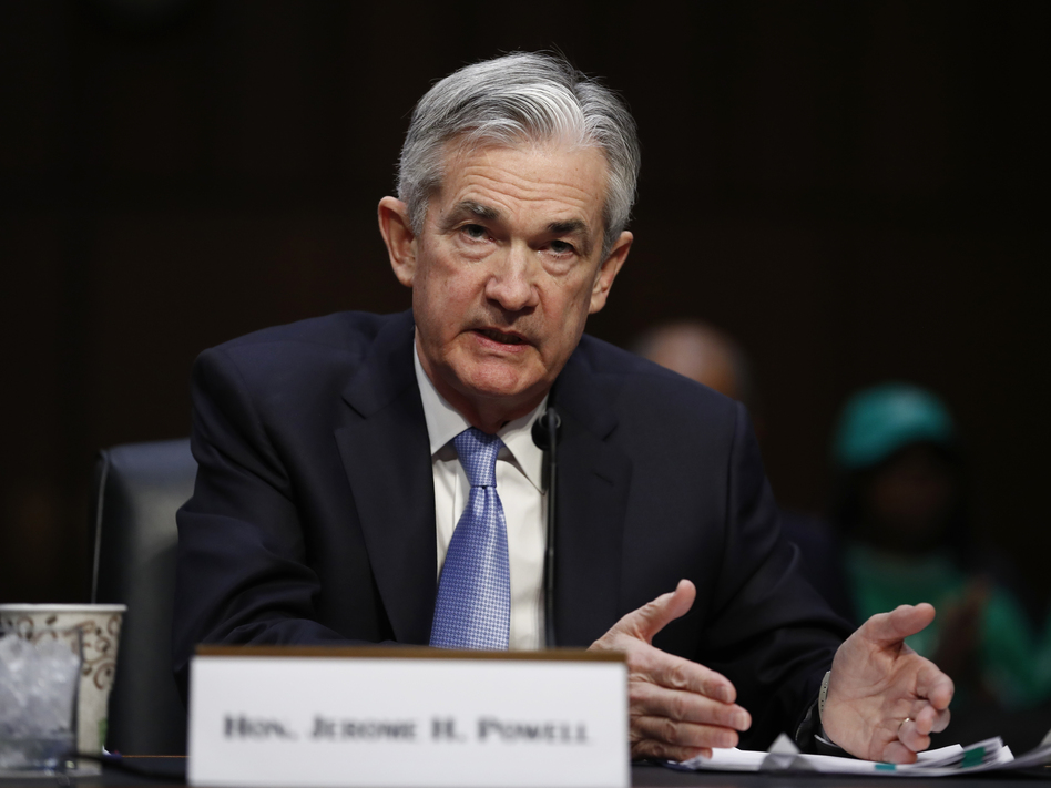 Jerome Powell, President Trump's pick for chairman of the Federal Reserve, testifying before a Senate committee in November 2017. He was confirmed by the full Senate on Tuesday. (Carolyn Kaster/AP)