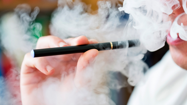 Vapor from e-cigarettes contains toxins, although fewer than conventional cigarettes.