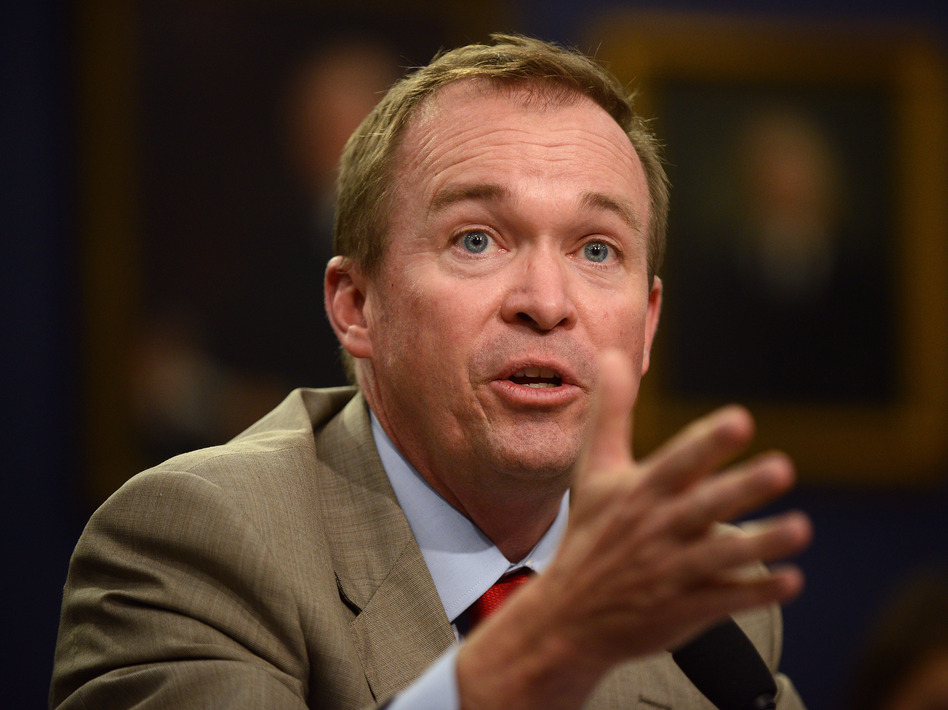 Mick Mulvaney, a former Republican lawmaker and current White House budget chief, was also picked as interim head of the Consumer Financial Protection Bureau. (Astrid Riecken/Getty Images)