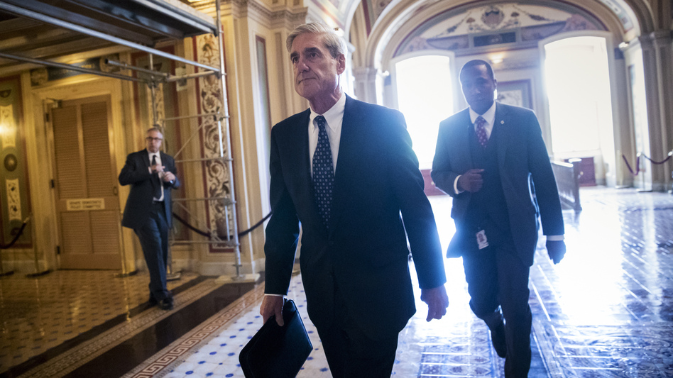 Special counsel Robert Mueller at the Capitol in June. <em>The New York Times</em> reports President Trump intended to fire him that month but was dissuaded by White House Counsel Don McGahn. (J. Scott Applewhite/AP)